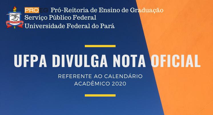 Divulgaçao da Nota Oficial sobre o Calendário Acadêmico