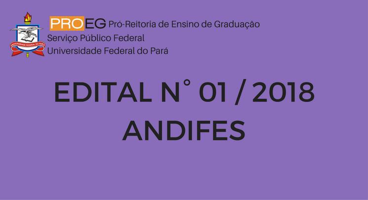 EDITAL DO PROGRAMA MOBILIDADE ACADÊMICA ANDIFES