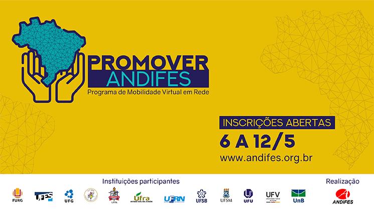 Inscrições abertas para o Programa de Mobilidade Virtual Promover Andifes até 12 de maio
