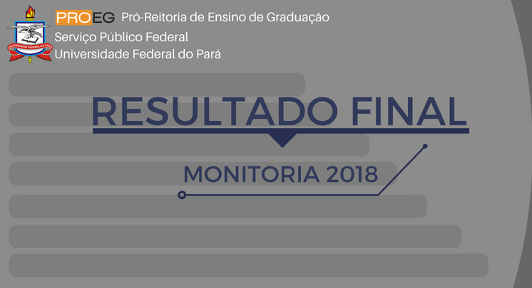 RESULTADO FINAL MONITORIA 2018