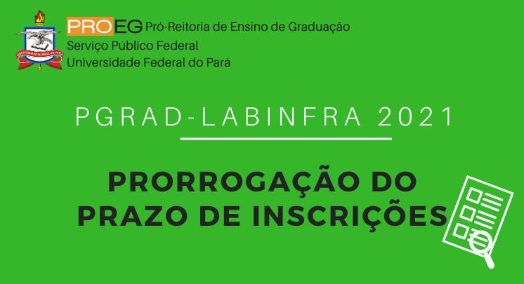 Labinfra 2021 - Prorrogação do Prazo de Inscrições