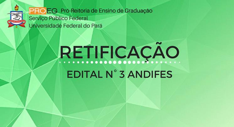 RETIFICAÇÃO EDITAL Nº ANDIFES 2018